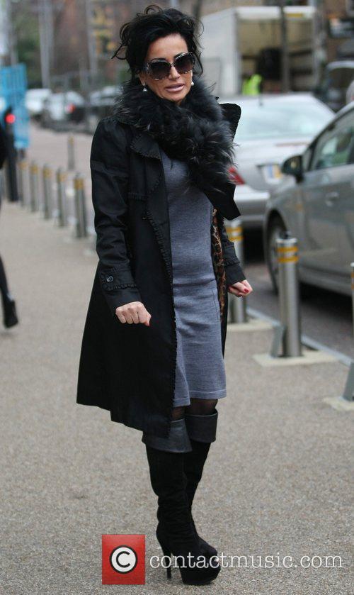 Nancy Dell'Olio outside the ITV studios London, England
