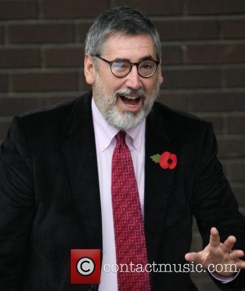 John Landis at the ITV studios London, England