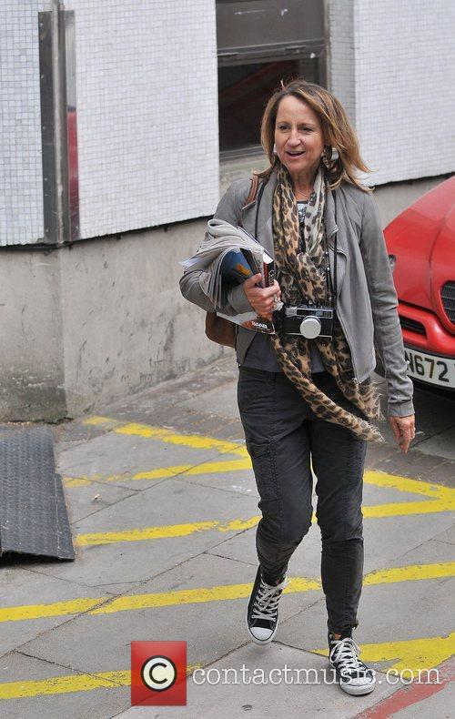 Carol McGiffin leaving the ITV studios London, England