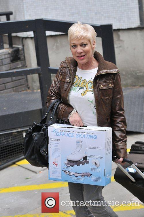 Denise Welch leaving the ITV studios London, England