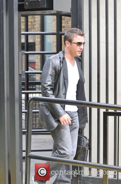 Gino D'Acampo leaving the ITV studios London, England