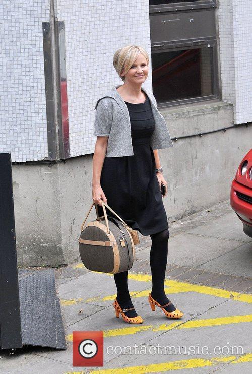 Lisa Maxwell leaving the ITV studios London, England