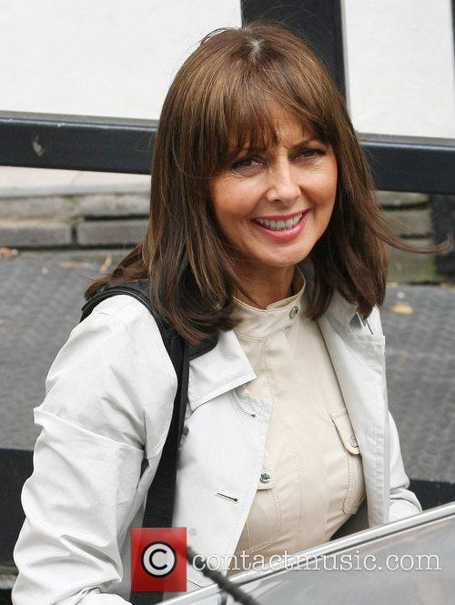 Carol Vorderman Celebrities outside the ITV television studion...
