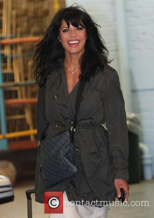 Jenny Powell Celebrities outside the ITV television studios...