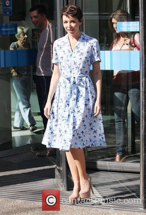 Dannii Minogue  at the ITV studios...