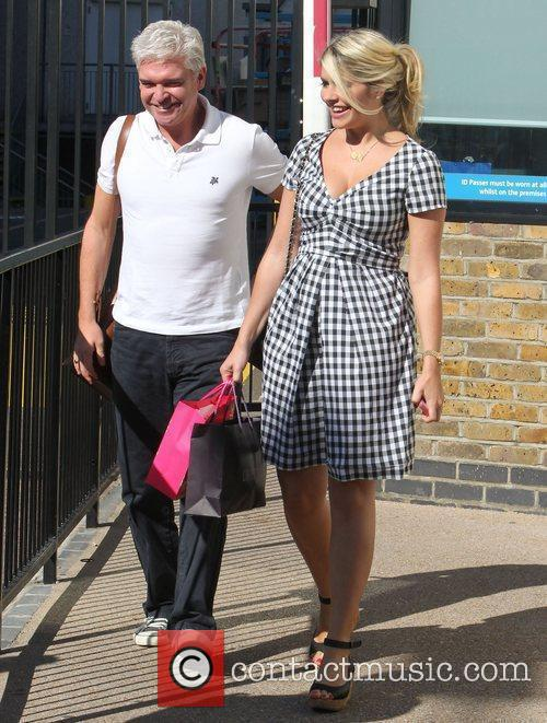 Holly Willoughby and Phillip Schofield at the ITV...