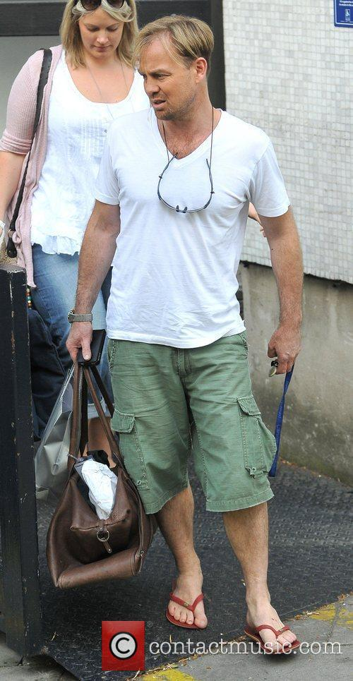 Jason Donovan leaves the ITV studios after appearing...