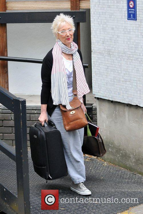 Jenny Eclair leaves the ITV studios after appearing...