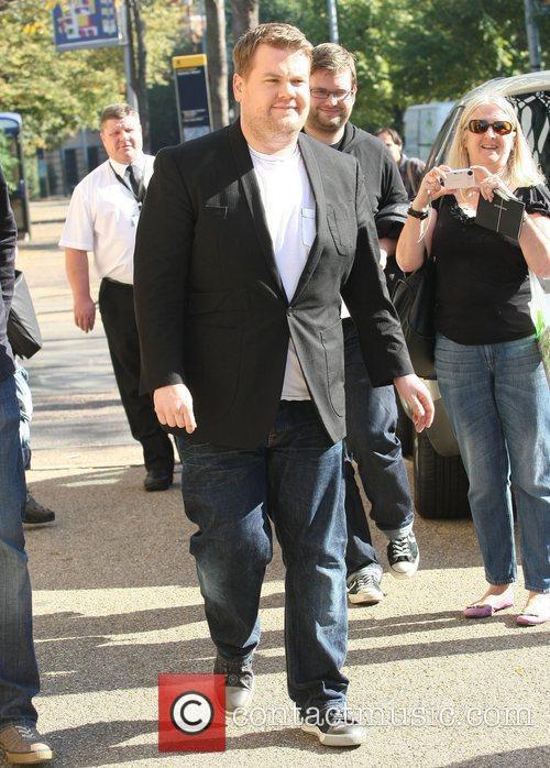 James Corden Celebrities at the ITV studios London,...