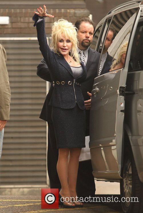 Dolly Parton at the ITV studios London, England