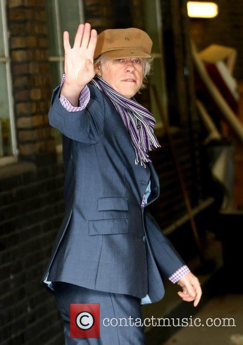 Bob Geldof outside the ITV television studios London,...