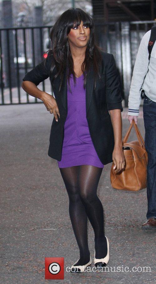 Alexandra Burke outside the ITV studios London, England