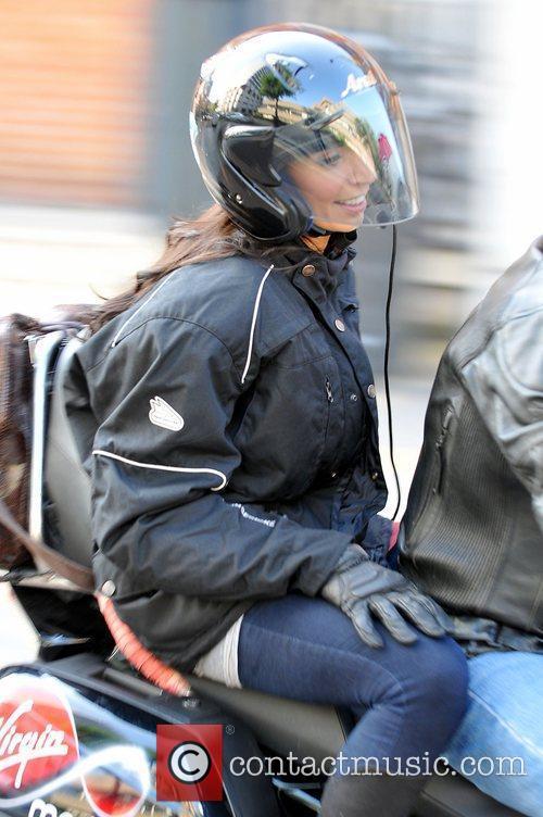 Christine Bleakley  leaves the ITV studios on...