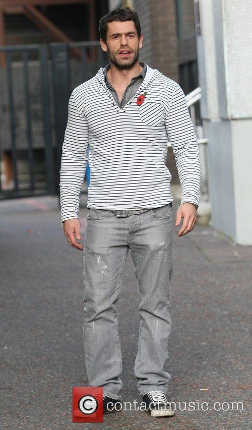 Kelvin Fletcher outside the ITV studios London, England