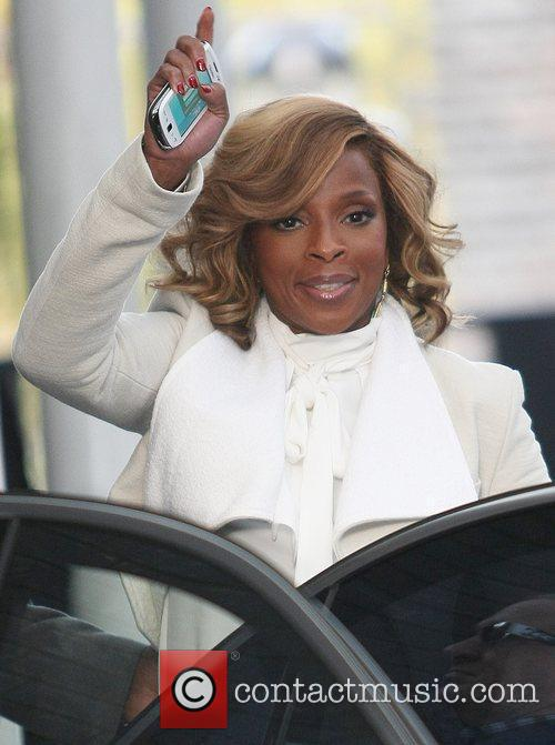 Mary J. Blige outside the ITV studios London,...