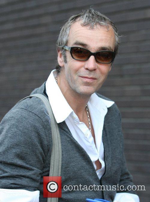 John Hannah outside the ITV studios London, England