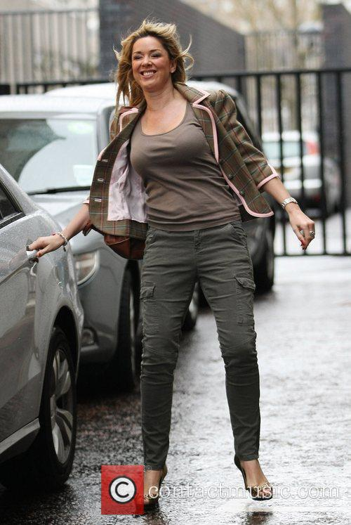 Claire Sweeney outside the ITV studios London, England