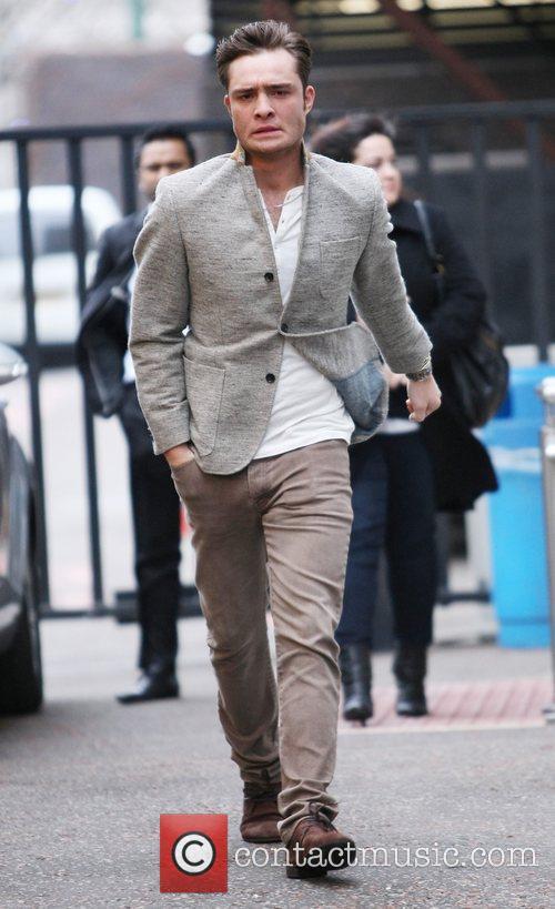 Ed Westwick outside the ITV studios London, England