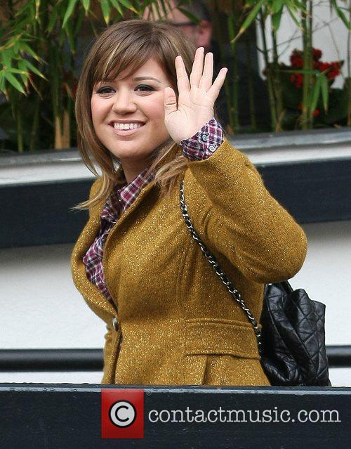 Kelly Clarkson Celebrities at the ITV studios London,...
