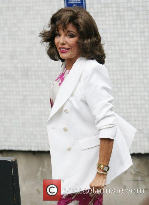 Joan Collins at the ITV studios London, England