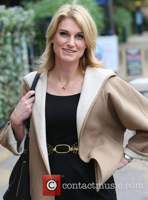 Sally Bercow outside the ITV studios London, England