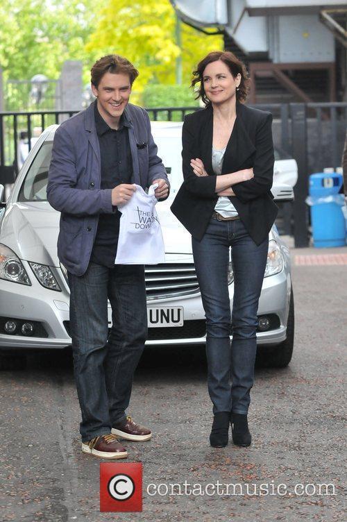 Elizabeth McGovern and Dan Stevens Celebrities outside ITV...