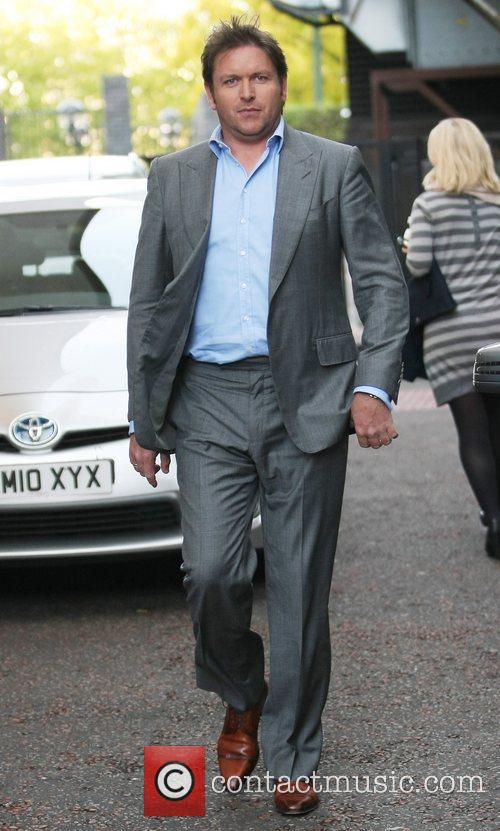 James Martin outside the ITV studios London, England