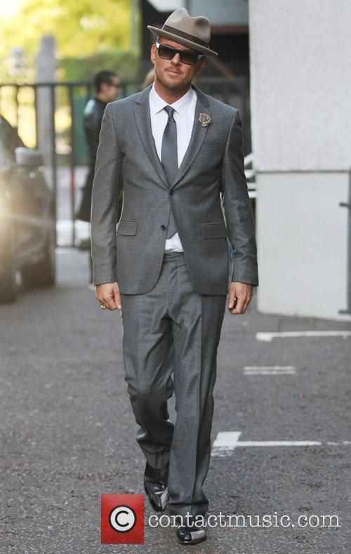 Matt Goss outside the ITV studios London, England