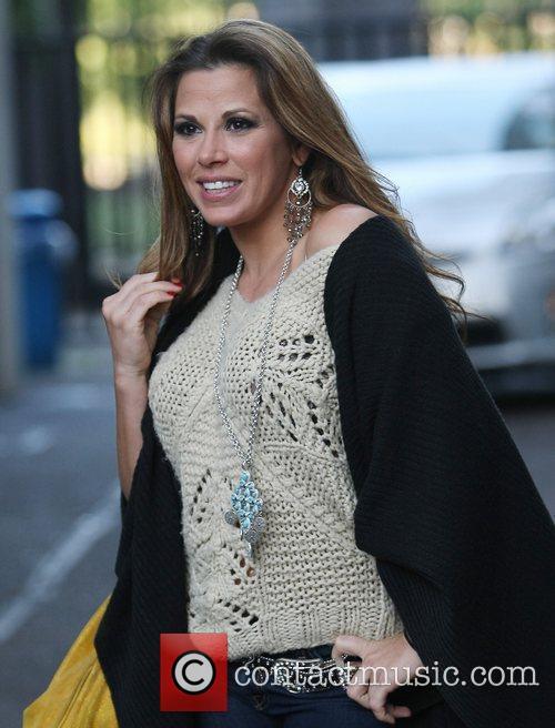 Nikki James celebrities outside the ITV studios London,...