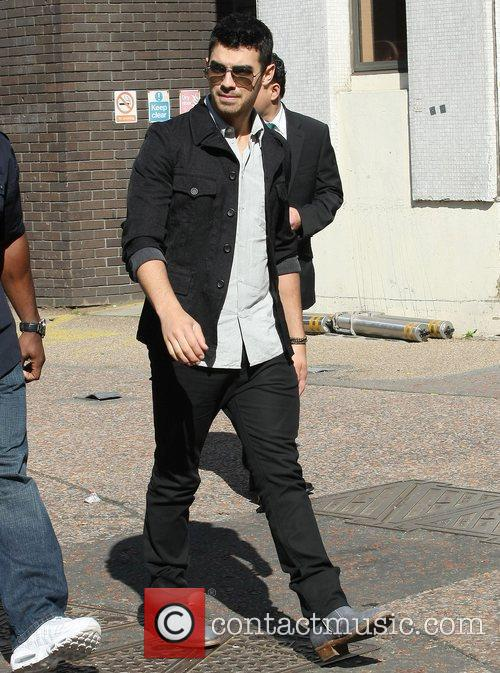 Joe Jonas at the ITV studios London, England