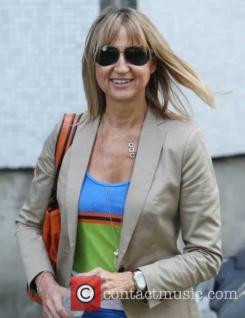 Carol McGiffin Celebrities outside the ITV studios London,...