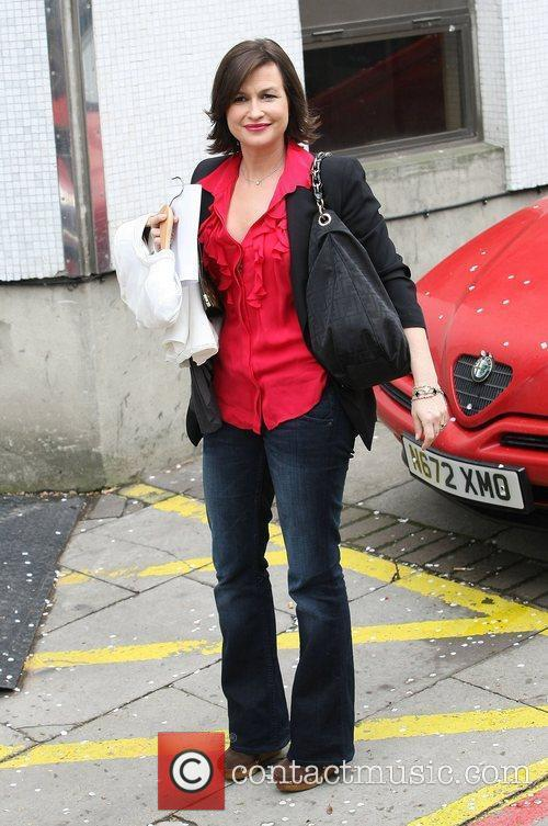 Celebrities outside the ITV television studios