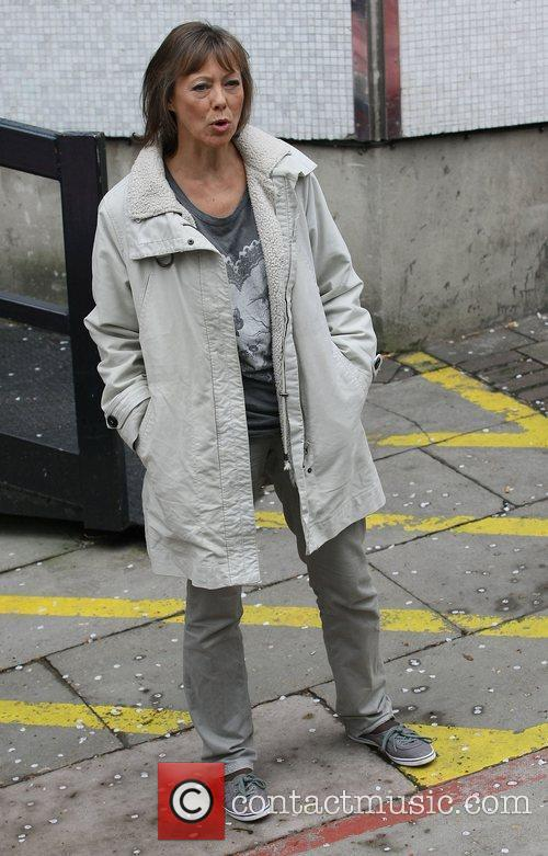 Jenny Agutter Celebrities outside the ITV television studios...