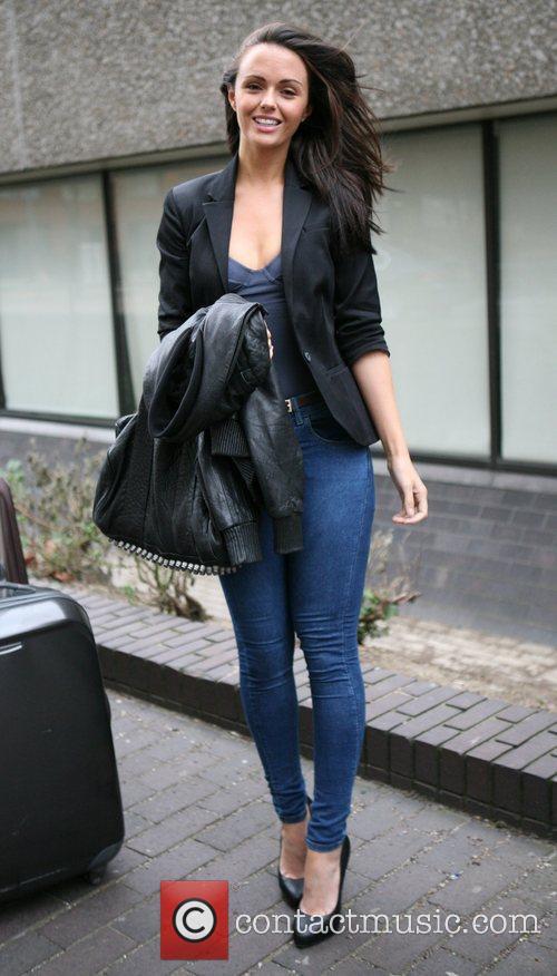 Jennifer Metcalfe outside the ITV studios London, England