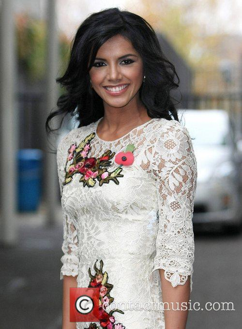 Miss World Ivian Sarcos at the ITV studios...