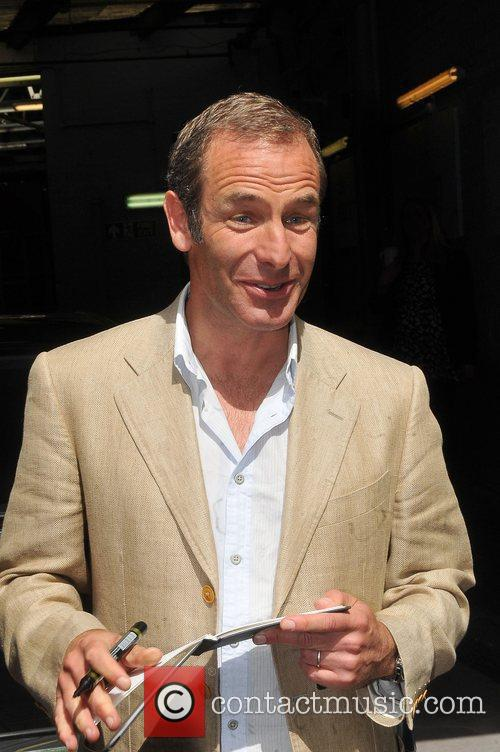 Robson Green leaving the London Studios London, England