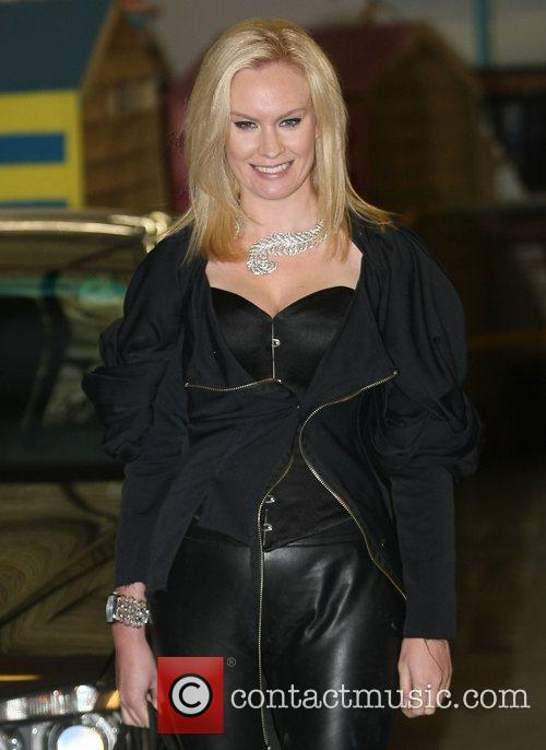 At the ITV Studios after her elimination from...