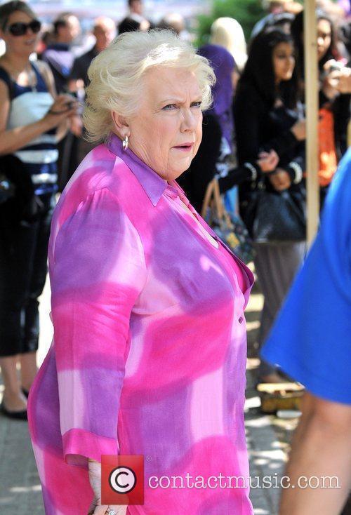 Denise Robertson films outside the ITV studios London,...