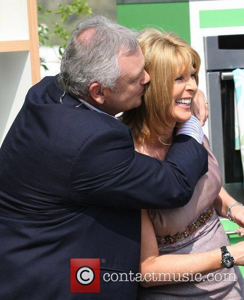 Eamonn Holmes and Ruth Langsford participating in a...