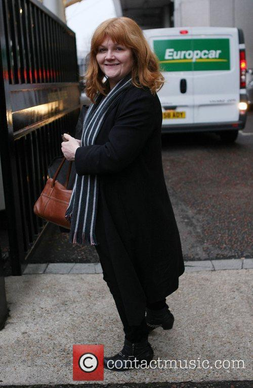 Lesley Nicol at the ITV studios London, England