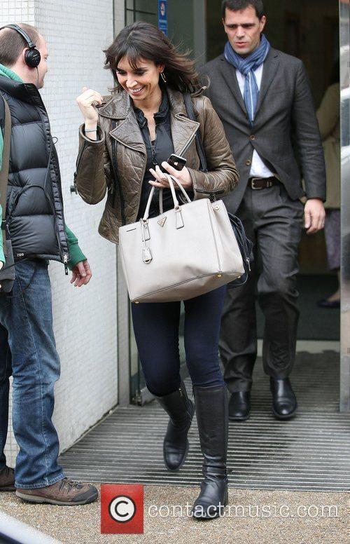 Christine Bleakley outside the ITV studios London, England