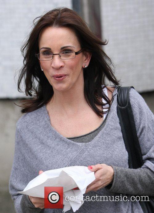 Andrea McLean  outside the ITV studios London,...