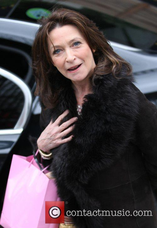 Cherie Lunghi outside the ITV studios London, England