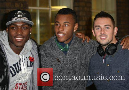 Derry Mensah, Ashford Campbell and Charlie Healy of...