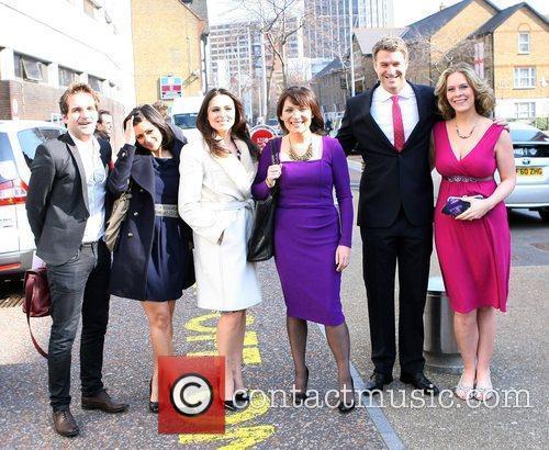 ITV presenters outside the ITV studios  London,...
