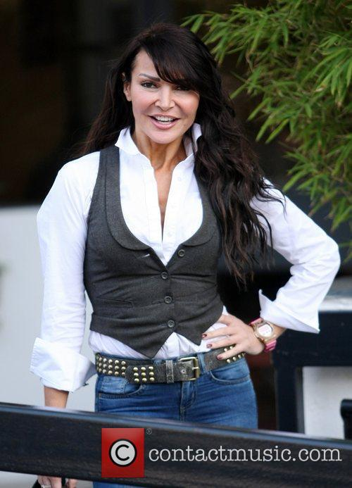 Lizzie Cundy outside the ITV studios  London,...