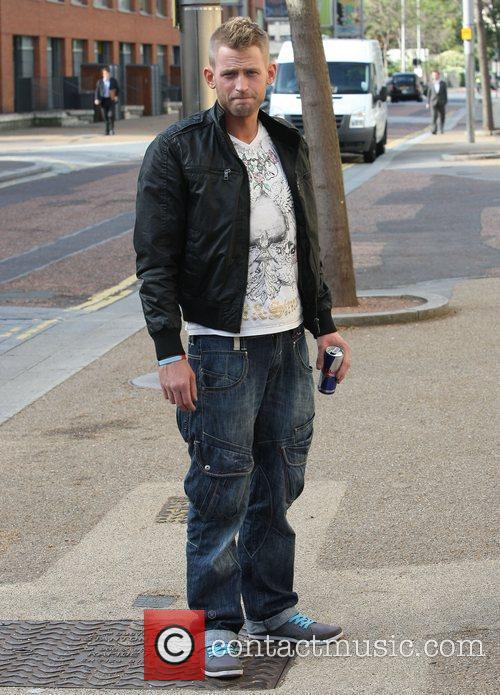Jonjo Kerr leaves the ITV studios London, England