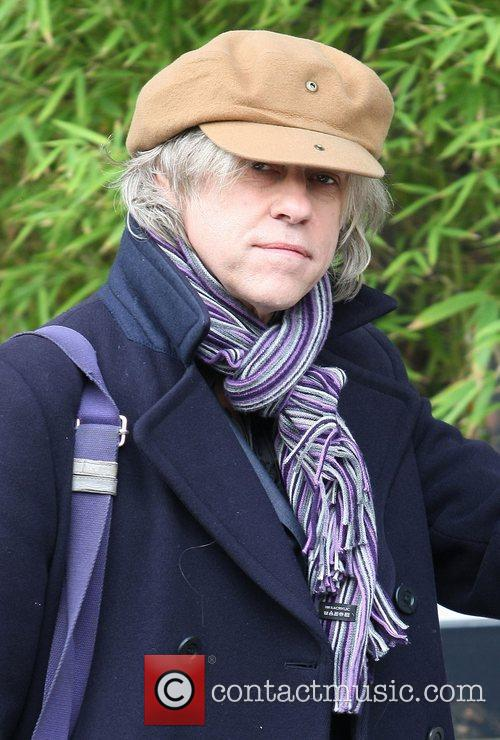 Bob Geldof at the ITV studios London, England