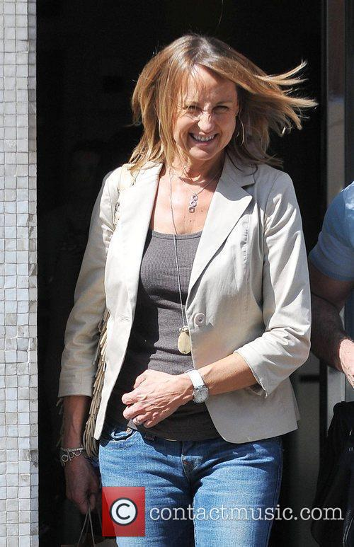 A windswept Carol McGiffin celebrities outside the ITV...