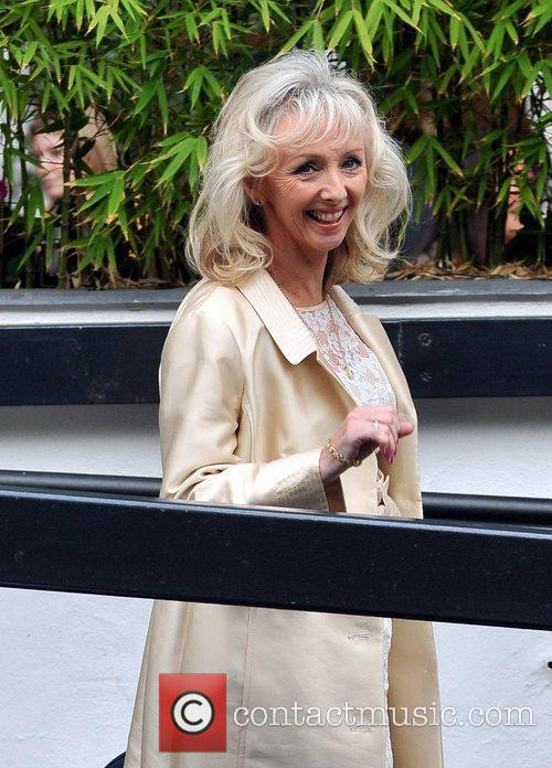 Debbie MaGee outside the ITV studios London, England
